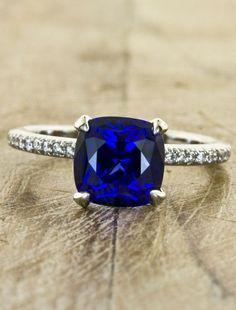 Cushion Cut Sapphire Ring