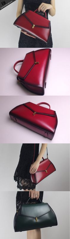 I like the shape of this bag.  The red with black is gorgeous!