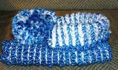 Double ended Crochet Slipper one side