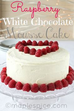 White+Chocolate+Raspberry+Cake | VEGAN Raspberry White Chocolate Mousse Cake.