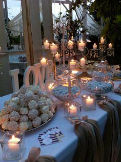 Diy Wedding Deco, Candy Bar Wedding, White Bridal Shower, Bridal Decorations, August Wedding, Greek Wedding, Vintage Party, Marry Me, Wedding Details