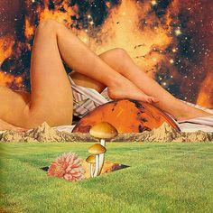 Legs & planet | par Mariano Peccinetti Collage Art