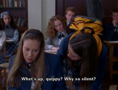 """What's up, Quippy?"" Gilmore Girls season 1 - Rory loses it on Paris"