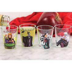 AmazonSmile | Disney Villains Shot Glasses Set/4 - Evil Queen, Maleficent, Cruella, Ursula: Shot Glasses