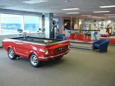 """1965 Ford Mustang Pool Table - http://hiconsumption.com/2012/08/1965-ford-mustang-pool-table/ - Products We Love - Funk Gumbo Radio: http://www.live365.com/stations/sirhobson and """"Like"""" us at: https://www.facebook.com/FUNKGUMBORADIO"""