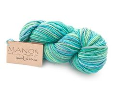 """It's easy to love Manos del Uruguay for their efforts to help women in Uruguay generate income for themselves and their families. What's equally loveable is this unbelievable yarn - we honestly can't get over how gorgeous the color is and how perfect it would be in almost any project. Click the image to get free shipping on a skein today and click """"Repin"""" to help spread the word and empower women in Uruguay! #yarndeal"""