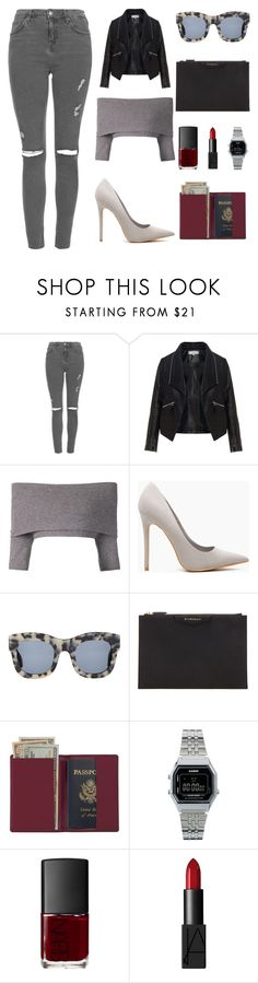 """""""Set #93"""" by fashionthirsty on Polyvore featuring Topshop, Zizzi, Dorothee Schumacher, Illesteva, Givenchy, Royce Leather, Casio and NARS Cosmetics"""