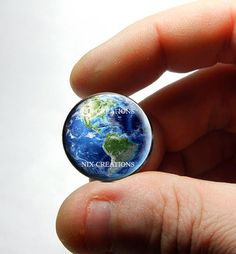 25mm 20mm 16mm 12mm or 10mm Glass Cabochon  Earth  by Nixcreations