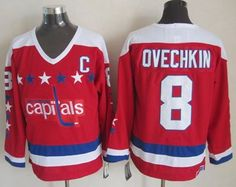 """$34.88 at """"MaryJersey""""(maryjerseyelway@gmail.com) Capitals 8 Alex Ovechkin Red CCM Throwback Stitched NHL Jersey"""