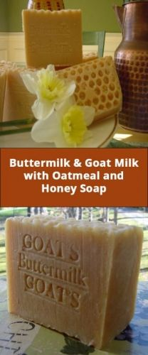 All Natural Buttermilk & Goat Milk with Oatmeal & Honey Soap :: Wisely Organic