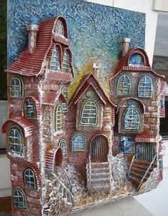 Gallery.ru / Фото #1 - домики из картона - stradivari