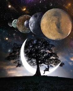 Beautiful Dark Art, Beautiful Photos Of Nature, Beautiful Roses, Good Night Gif, Good Night Image, Scenery Wallpaper, Cute Wallpaper Backgrounds, Heaven Art, Space Artwork