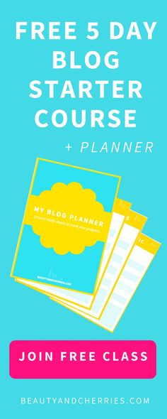 Ever wanted to start a blog but end up confused, overwhelmed and stuck on what to do next? Click through to join this FREE 5 Day Email Course where I'll share with you the essentials of starting your blog. There will be two worksheets and a 15 page blog planner printable as a bonus!
