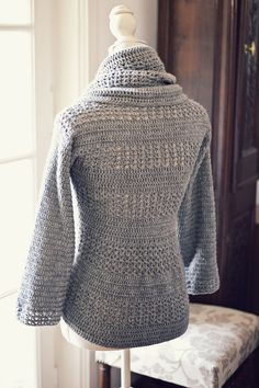 Really need to learn to crochet!! Instant download - Crochet cardigan PATTERN (pdf file) - Ladies' Shrug - Cardigan