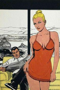 "Diabolik - ""Eva Kant e Diabolik"" - firmato in originale - - Eerste druk Diabolik, Police Story, Pop Art Girl, Pulp Art, A Cartoon, Pin Up Art, Comic Character, Vignettes, Retro"
