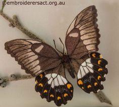 stumpwork tutorial | Detail of Stumpwork Butterfly by Lorna Loveland