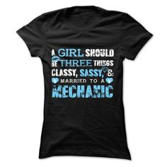 A Girl Married To A Mechanic T Shirt, Hoodie, Sweatshirt