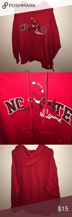 NC State Wolfpack hoodie XXL Men's or women's NC State Wolfpack hoodie size 2XL. no blemishes and from a pet free and smoke free home. Practically new!!! I'm not sure it's ever been worn. Shirts Sweatshirts & Hoodies