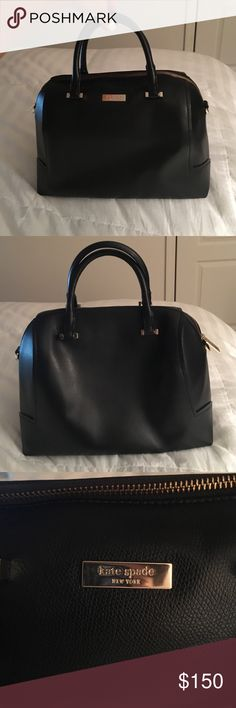 Black leather Kate Spade bag His bag is used but in great condition. No scratches or marks. kate spade Bags Satchels