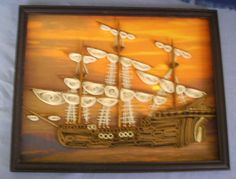 Quilled ship  made by Paula Hogue