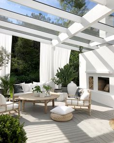 backyard landscape design Would you like to make an outdoor oasis? Or on the other hand, maybe, complete off your porch? Outdoor flooring improves your space and assumes an im Backyard Beach, Backyard Patio, Backyard Landscaping, Pergola Patio, Beach Porch, Landscaping Design, Outdoor Living Rooms, Outdoor Spaces, Outdoor Decor