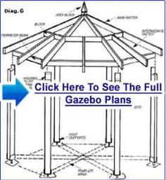 Click Here For Gazebo Plans Free #Square_Gazebo_Plans #How_To_Build_a_Gazebo