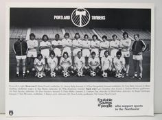 1975 PORTLAND TIMBERS Team Photo.  North American Soccer League NASL unused on Etsy, $9.99