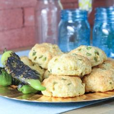 Hatch Chile & Cheddar Cornbread Scones