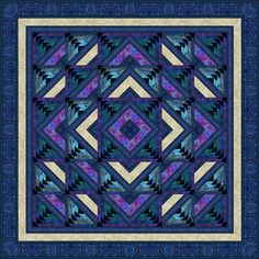 log cabin quilt patterns | Four Winds quilt pattern featured in McCall's Quilting magazine