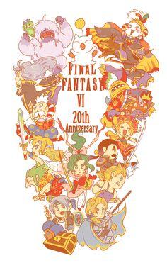 FF6 20th Anniversary By tuna