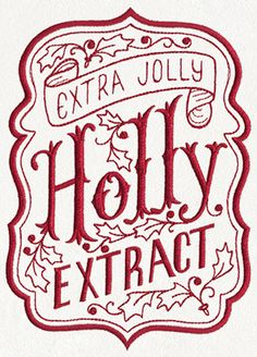 ApotheMerry - Extra Holly Jolly Extract | Urban Threads: Unique and Awesome Embroidery Designs