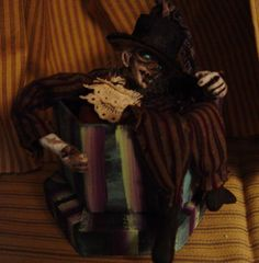 Ghost in a Box by adelesspookyart - Creepy Harry.