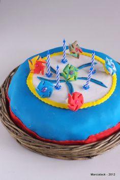 Gâteau toupies Beyblade en pâte à sucre - Recette - Marcia Tack