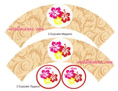 Mis 2 Manos: Made by My Hands: Cupcake Toppers Cupcake Wrappers Print at Home