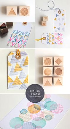geometric rubber stamps | hunter's hideaway - awesome faded background geometric stamps for greeting card backgrounds