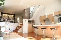 Living, Kitchen, Dining - modern - living room - san francisco - DNM Architect