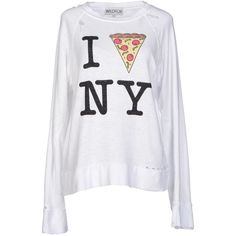 Wildfox Sweatshirt (76 AUD) ❤ liked on Polyvore featuring tops, hoodies, sweatshirts, white, print sweatshirt, sweat tops, long sleeve sweatshirt, sweat shirts and wildfox