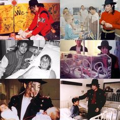 Michael Jackson did more to help children with aids and cancer than any entertainer in history. Nobody ever like him! He always loved babies and all children of the world ღ @carlamartinsmj