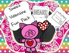 This is an assortment of fun Valentine resources.  This set includes  valentine mailbox signs, bookmarks, a puzzle, a coloring page, a daubing page, a tic tac toe game and a heart drawing page.