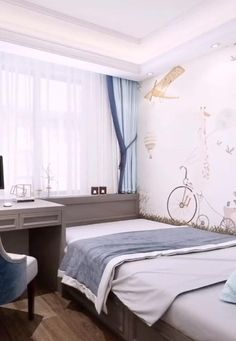 Smart Home Interior Design Ideas. In this video you will get some ideas that may help you to find the best Interior design for your apartment. Small Bedroom Interior, Bedroom Decor For Small Rooms, Small House Interior Design, Small Apartment Design, Small Bedroom Designs, Bedroom Furniture Design, Home Room Design, Diy Furniture, Bedroom Ideas For Small Rooms