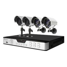 Zmodo 4CH H.264 Security DVR System & 4 CMOS 480TVL 30ft Night Vision Outdoor CCTV Surveillance Cameras- Not Hard Drive by Zmodo. $124.50. Overview This security camera system provides everything you will need to protect your home or business, safeguard your loved ones, and deter intruders. The system includes a state-of-the-art 4 channel H.264 DVR with 4 weatherproof day/night cameras, and allows for the simultaneous viewing and recording of 4 video streams locally, ...