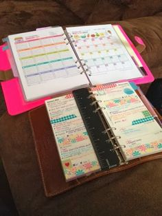 Peace: Love: Plan Ahead: Double fisted Filofax! Meal Planning in the A5 and weekly planning in the personal Malden.