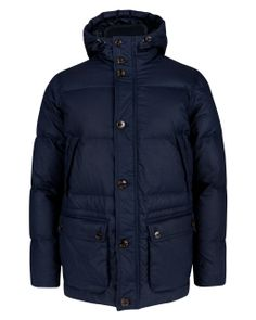 Hooded puffer coat - Navy   Jackets & Coats   Ted Baker UK