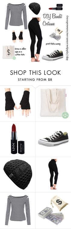 """DIY Bandit Costume"" by crestienne ❤ liked on Polyvore featuring NYX, Converse, party, Costume, costumes and bandit"