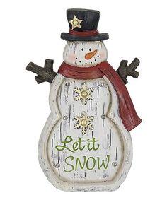 Love this 'Let it Snow' Light Snowman Statue on #zulily! #zulilyfinds