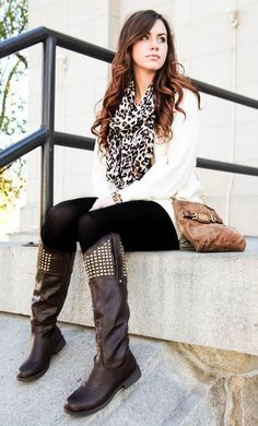 Latest Fall Fashion Outfits with Boots for Teens (23)