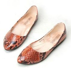 Looking For Good Shoes? Know These Shoe Tips Before Buying Anything *** Check this useful article by going to the link at the image. Orange Pink Color, Top Shoes, Flat Shoes, Latest Shoes, Shoe Shop, Beautiful Shoes, Womens Flats, Pu Leather, Ballet Shoes