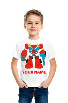 Transformers Rescue Bots Energize Heatwave Personalized Kids Shirts If youre looking for the ultimate attention grabbing tee shirt to show off