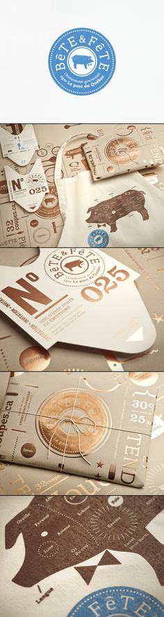 The Bête & Fête event Branding | Client: Fédération des producteurs de porc du Québec | by lg2boutique | #stationary #corporate #design #corporatedesign #identity #branding #marketing < repinned by www.BlickeDeeler.de | Take a look at www.LogoGestaltung-Hamburg.de