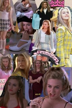 Cher Horowitz as Autumn, back-to-school inspiration in cropped sweaters, chunky heels, tartan, and fitted, high-waisted mini skirts.